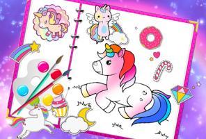 Fabulous Cute Unicorn Coloring