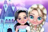 Casa das bonecas da princesa de xeo