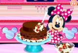 मिन्नी माउस चॉकलेट केक