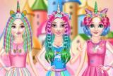 Princesas Rainbow Unicorn Hair Salon