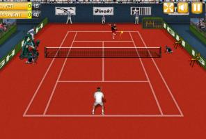 Jeu de tennis réel