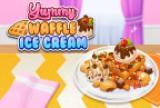 स्वादिष्ट वफ़ल आइसक्रीम
